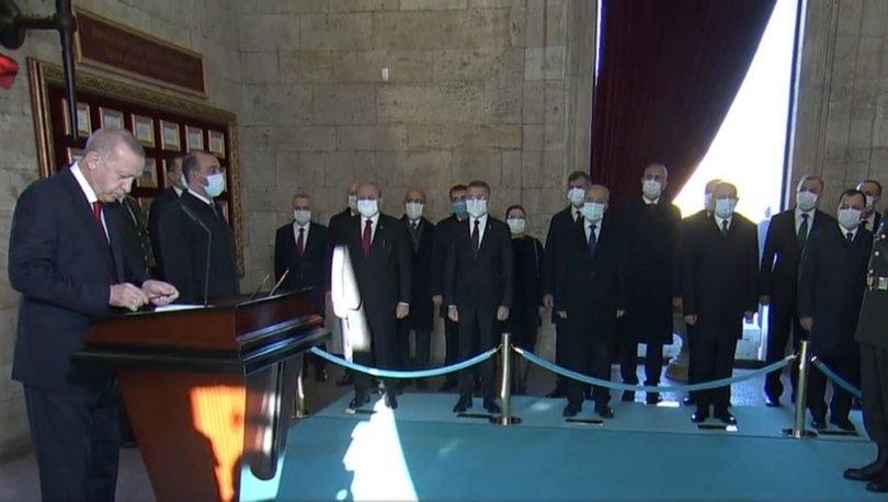 Son dakika: Cumhurbaşkanı Erdoğan ve Devlet Erkanı Anıtkabir'de - Haberler