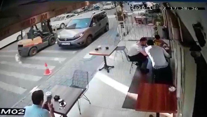 Son dakika FECİ kaza: Trafiğe çıkması yasak forklift çarptı! - Haberler