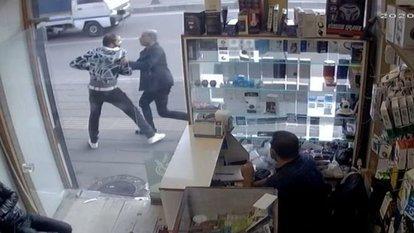 Bıçakladığı arkadaşını oğluyla kovaladı
