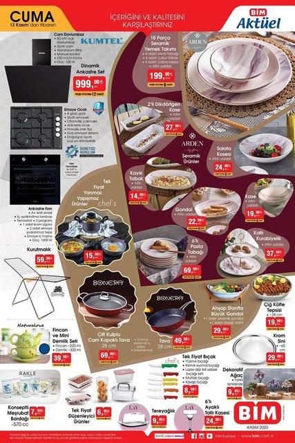 13 Kasım BİM Aktüel ürünler kataloğu! BİM indirimli ürünler listesi... BİM'de bu hafta