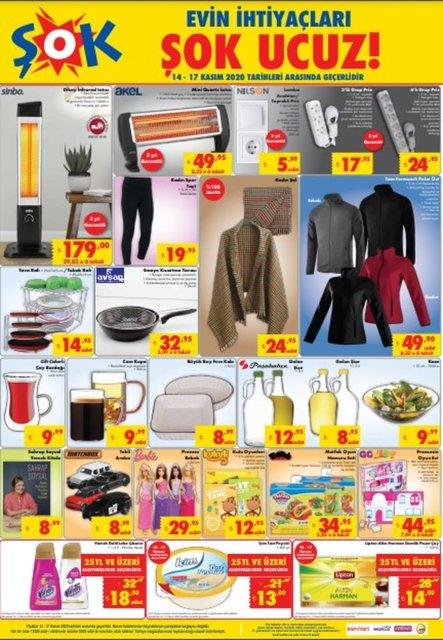 ŞOK 14 Kasım 2020 Aktüel ürünler kataloğu! ŞOK haftanın indirimli ürünler listesi
