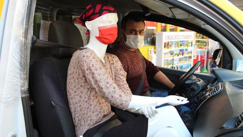 Taksiciden koronaya cansız mankenli önlem! - Haberler