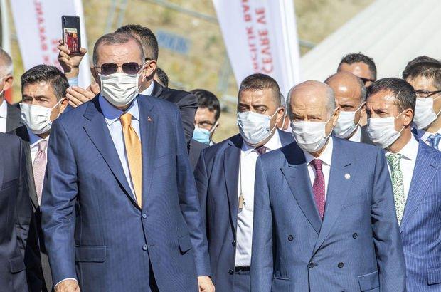 Cumhurbaşkanı Erdoğan ve MHP lideri Bahçeli KKTC'de