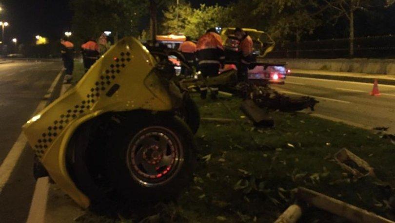 Kartal'da feci kaza! Otomobil ikiye bölündü: 1 ağır yaralı - HABERLER
