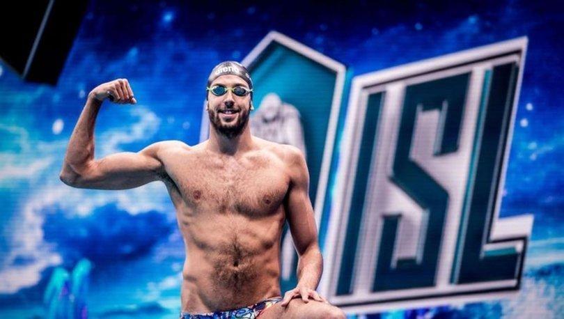Budapeşte'de rekorlar kıran milli yüzücü Emre Sakçı yurda döndü