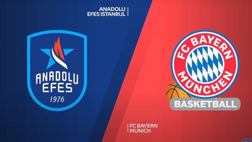 Anadolu Efes Bayern Münih maçı ne zaman, saat kaçta? Efes maçı hangi kanalda canlı yayınlanacak, şifresiz mi?