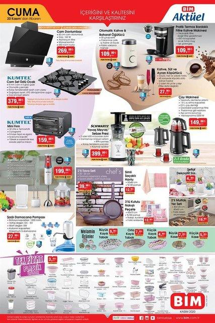 BİM 20 Kasım 2020 Aktüel ürünler kataloğu! BİM haftanın indirimli ürünler listesi