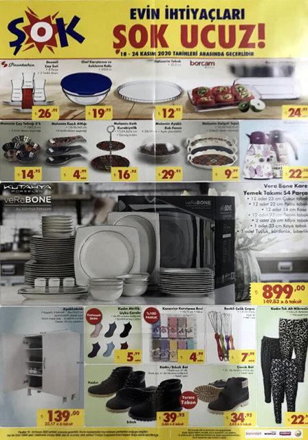 18 Kasım ŞOK Aktüel ürünler kataloğu satışta! ŞOK indirimli ürünler listesi