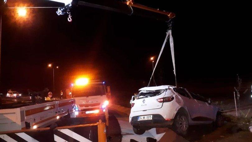 İzmir'de otomobil takla attı, sürücü feci şekilde can verdi