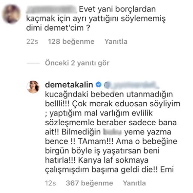 Demet Akalın'dan takipçisine: Kucağındaki bebekten utanmadığın belli! - Magazin haberleri