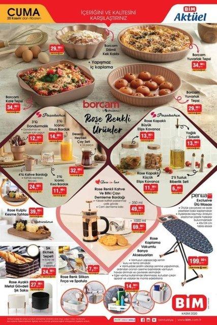 BİM Aktüel Ürünler Kataloğu: 20 Kasım 2020 BİM indirimli ürünler listesinde neler var?