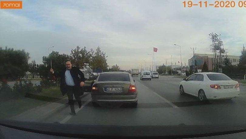 Son dakika haberleri... Konya'da korkunç olay! Yol isteyince böyle saldırıya uğradı!