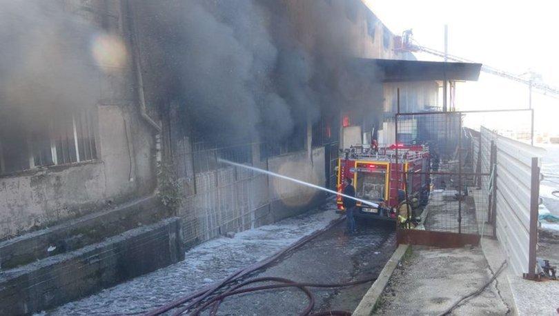 Uşak'taki fabrika yangını kontrol altına alındı