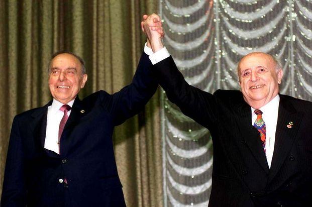 Haydar Aliyev ve Süleyman Demirel.