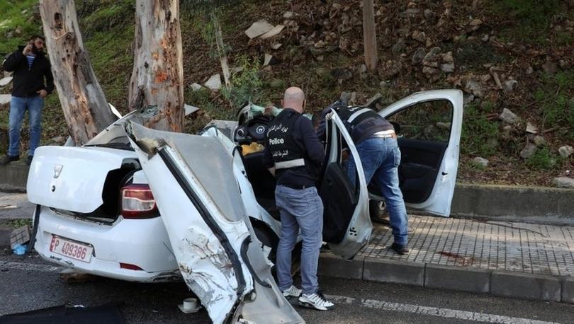 Lübnan'da hapisten kaçan tutuklular araçlarının ağaca çarpması sonucu öldü