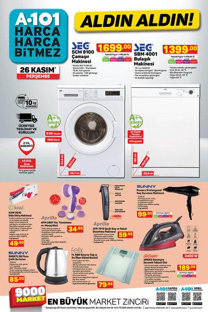 A101 26 Kasım 2020 Aktüel ürünler kataloğu! A101'de bu hafta hangi ürünler var? A101 kataloğu