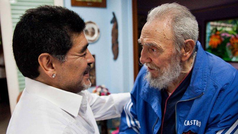 Küba'dan Maradona ve Fidel Castro paylaşımı: