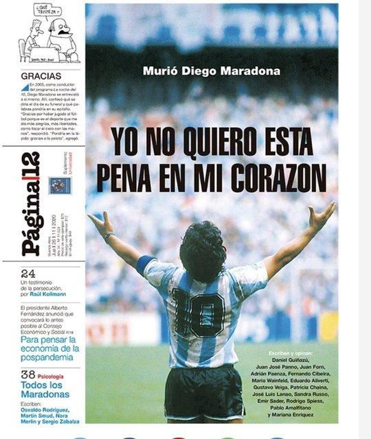 Son dakika Maradona haberleri: Maradona'nın ölümü manşetlerde!