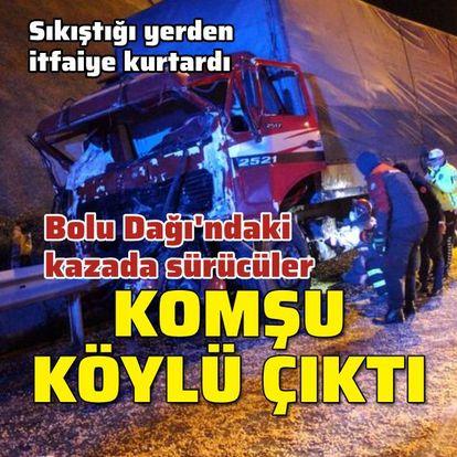 Kazaya karışan sürücüler hemşehri çıktı