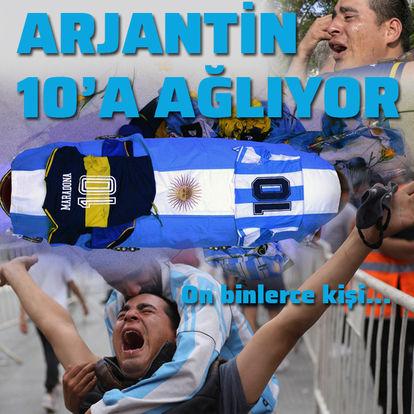 Arjantin, Maradona'ya veda ediyor!