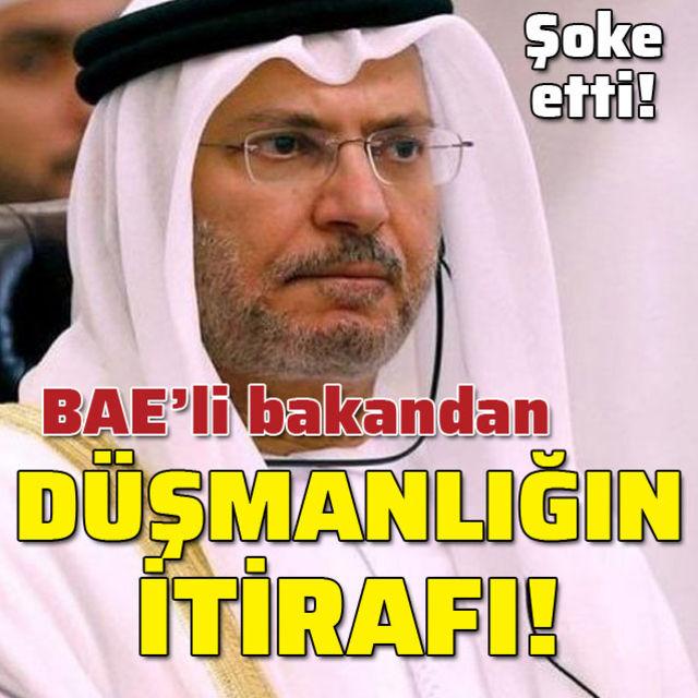 BAEli bakandan düşmanlığın itirafı!