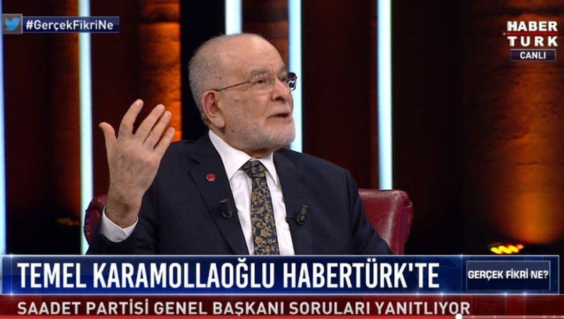 Saadet Partisi Genel Başkanı Temel Karamollaoğlu Habertürk TV'de soruları yanıtladı