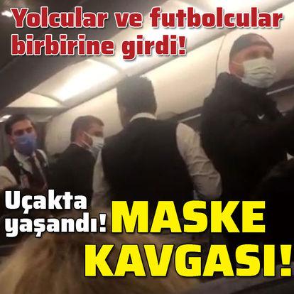 Uçakta maske arbedesi!