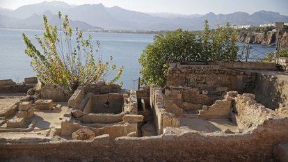Antalya'da buz fabrikası kalıntıları bulundu