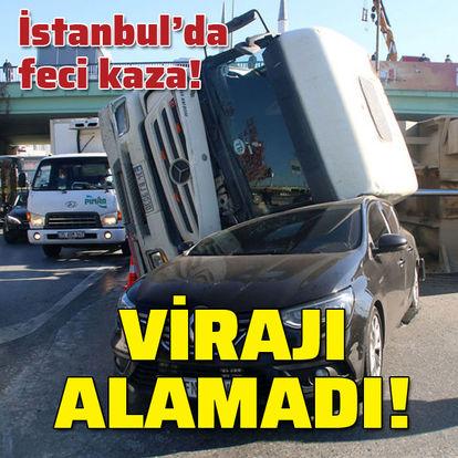 İstanbul'da dehşet! Virajı alamadı!