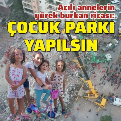 Yürek burkan rica: Çocuk parkı yapılsın