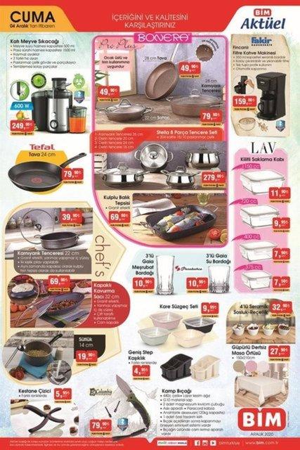 4 Aralık BİM Aktüel ürünler kataloğu! BİM haftanın indirimli ürünler listesinde neler var?