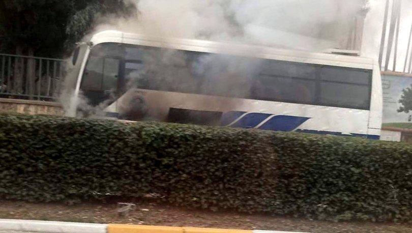 Son dakika: Halk otobüsünde yangın paniği! - Haberler