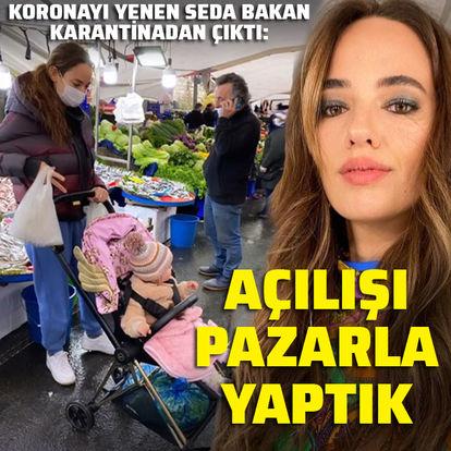 Koronayı yenen Seda Bakan pazara gitti