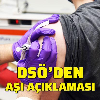 DSÖ'den aşı açıklaması
