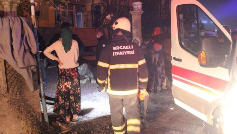 Kocaeli'nde gaz sıkışması olan kombi patladı