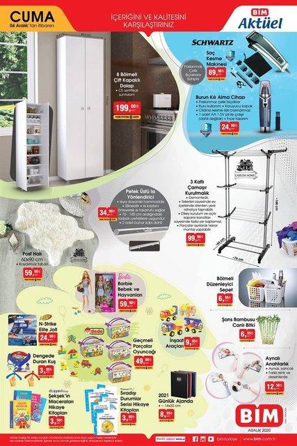 BİM 4 Aralık 2020 Aktüel ürünler kataloğu! BİM haftanın indirimli ürünler listesi