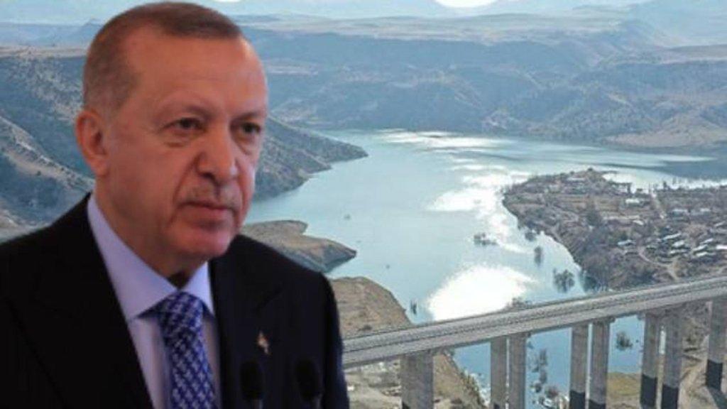 Cumhurbaşkanı Erdoğan dev projeyi açtı
