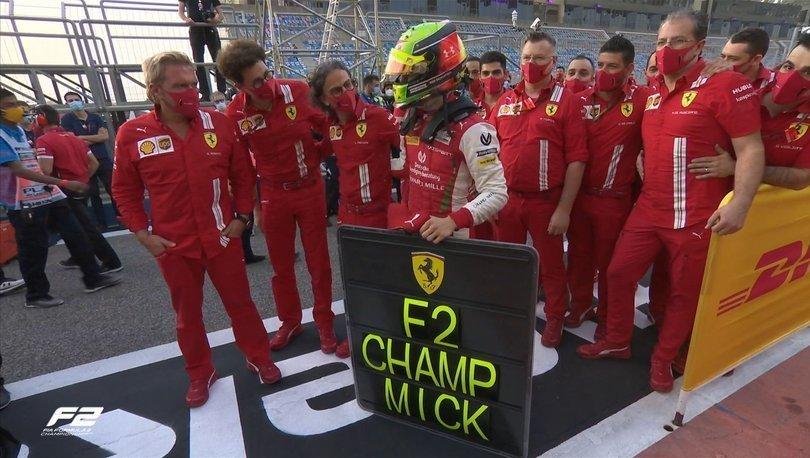 Mick Schumacher, Formula 2'de şampiyonluğa ulaştı!