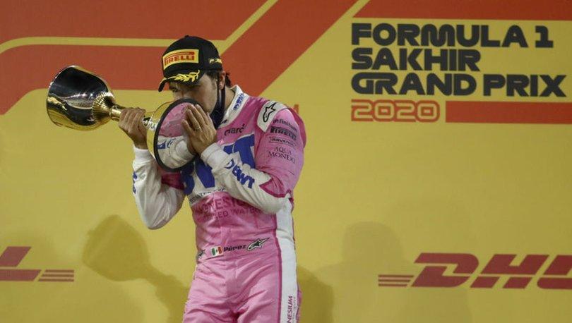 Perez, Sakhir Grand Prix'sinde F1 kariyerinin ilk birinciliğini kazandı