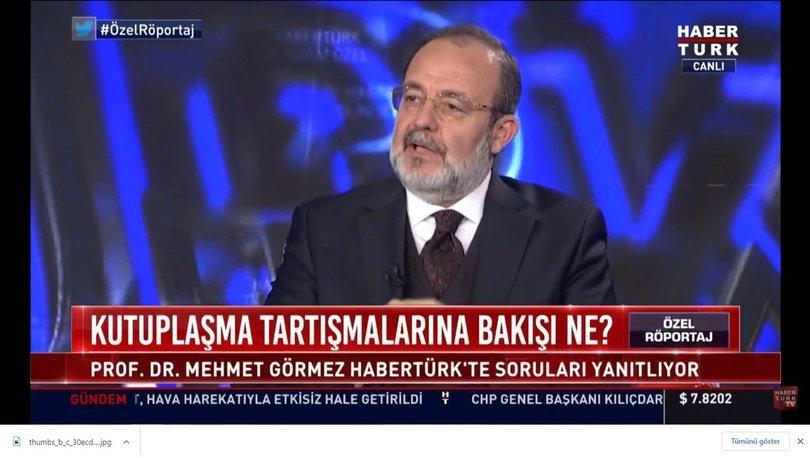 Eski Diyanet İşleri Başkanı Prof.Dr. Mehmet Görmez Habertürk'te soruları yanıtladı