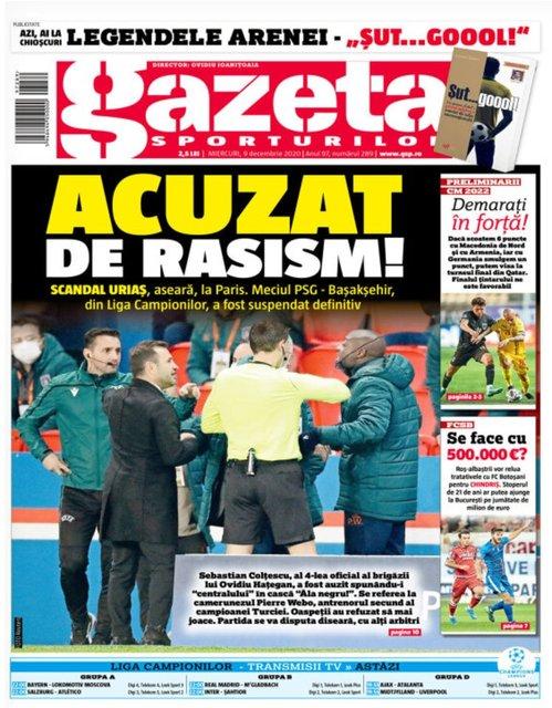 Son dakika haberler: Irkçı hakem Avrupa manşetlerinde!