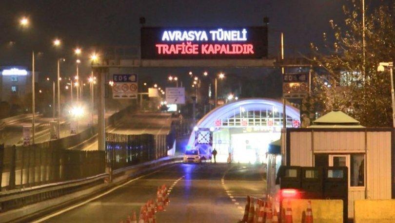 Avrasya Tüneli bakım çalışması nedeniyle trafiğe kapatıldı
