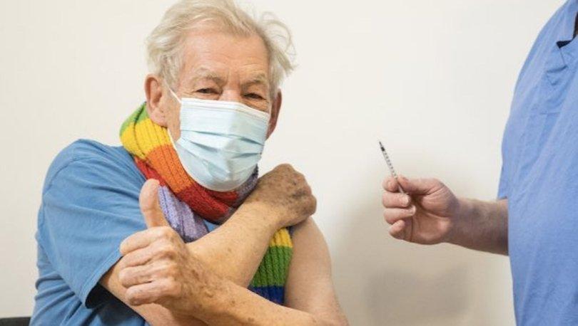 'Gandalf' da Covid 19 aşısı oldu