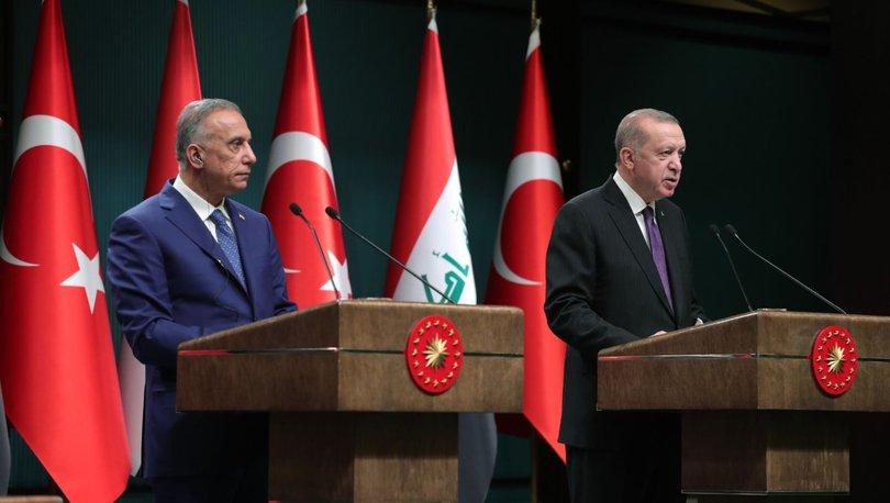 Son dakika haberi Cumhurbaşkanı Erdoğan ve Irak Başbakanı'ndan ortak açıklama
