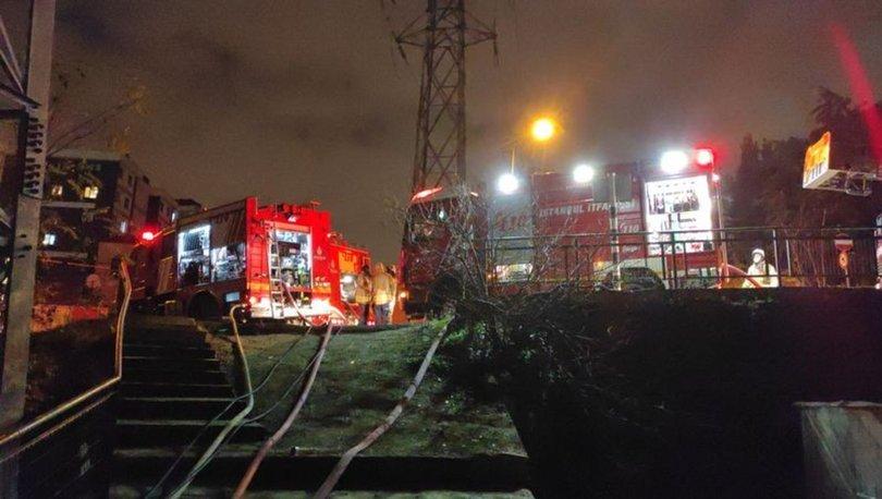İstanbul'un Eyüpsultan ilçesindeki gecekondu mahallesinde yangın çıktı