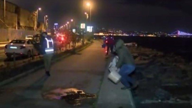 İstanbul'da kısıtlamayı ihlal eden olta balıkçılarına polis baskını