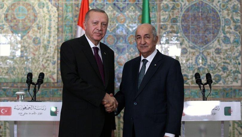 Cumhurbaşkanı Erdoğan, Cezayir Cumhurbaşkanı Tebbun ile telefonla görüştü