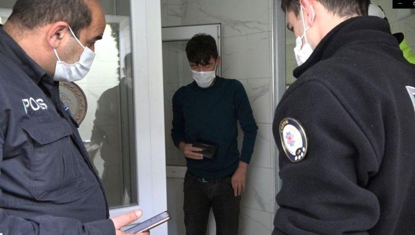 Kısıtlamada tuvalette kalan genç hakkında tutanak tutuldu
