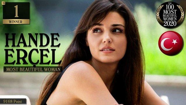 SON DAKİKA: Hande Erçel dünyanın en güzel kadını seçildi...