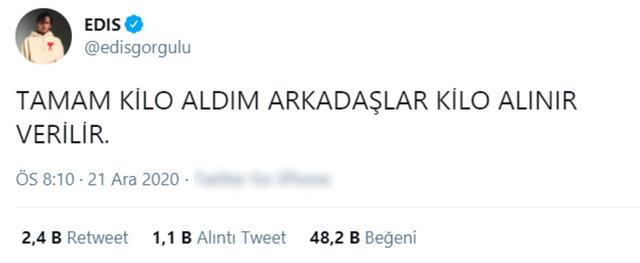 Edis Görgülü: Kilo aldım arkadaşlar - Magazin haberleri